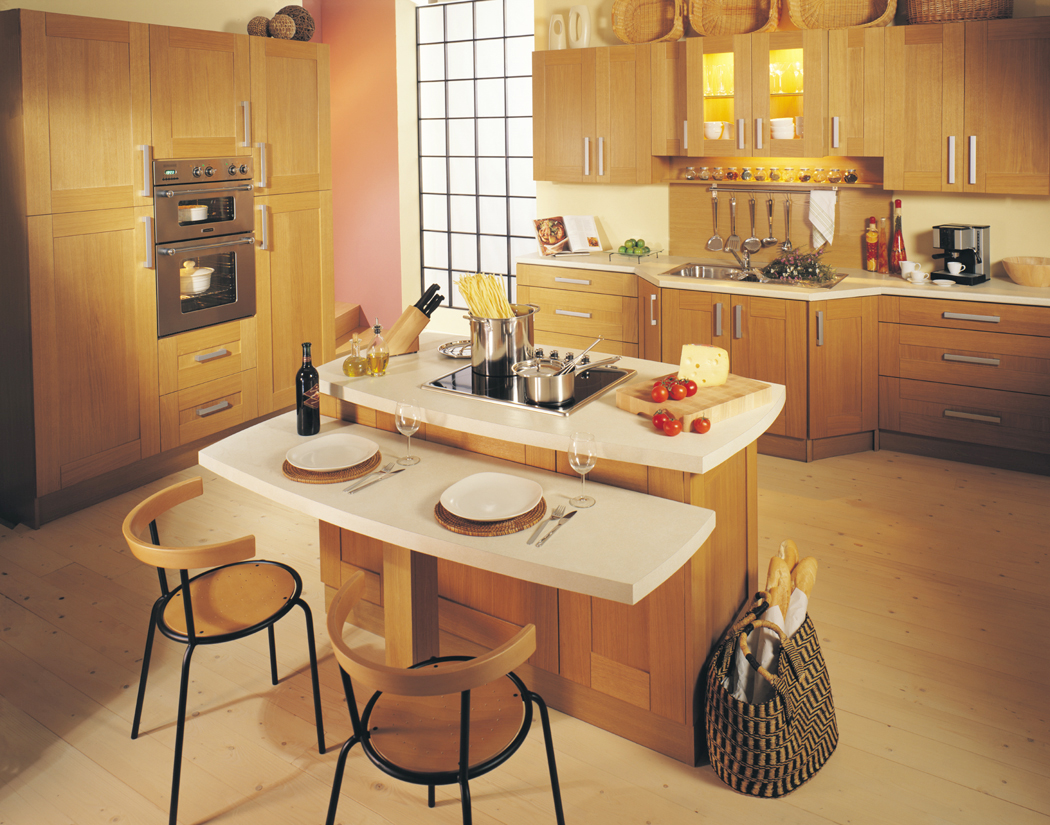 kitchens - kitchenworld exeter - shaker light oak kitchen
