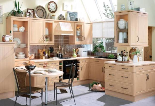 Devon kitchens kitchenworld exeter celine beech kitchen for Kitchen design exeter