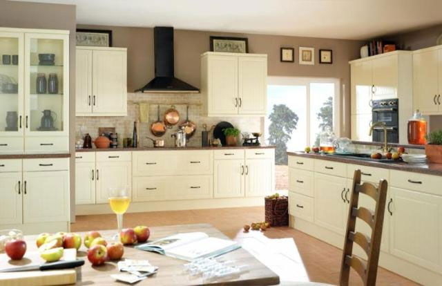 Devon Kitchens -  Kitchenworld Exeter - Celine cream Kitchen